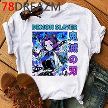 Мужская футболка Demon Slayer Kimetsu No Yaiba Kawaii, аниме, клинок демона, футболка с героями мультфильма Blade of Ghost Blade Graphic Tees Men(Китай)