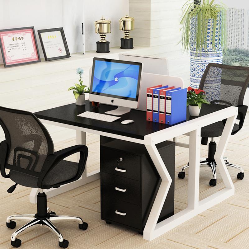 Офисная Рабочая станция белого цвета в американском стиле для 3 человек