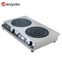 factory supply 220v portable double burner commercial electric induction cooker 3500watt for restaurance