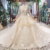 Jancember HTL696 Wholesale Long Sleeve Lace Modest Patterns Beaded Wedding Dress with Tail