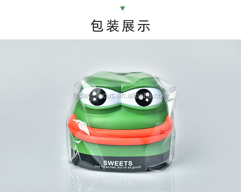 2021 Nieuwe Amazon Product Plastic Pepe Cartoon Kikker Tissue Doos