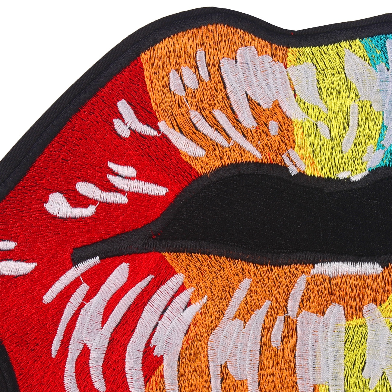 Cartoon large  color mouth embroidered cloth stickers beads cloth stickers towel embroidered cloth stickers patch
