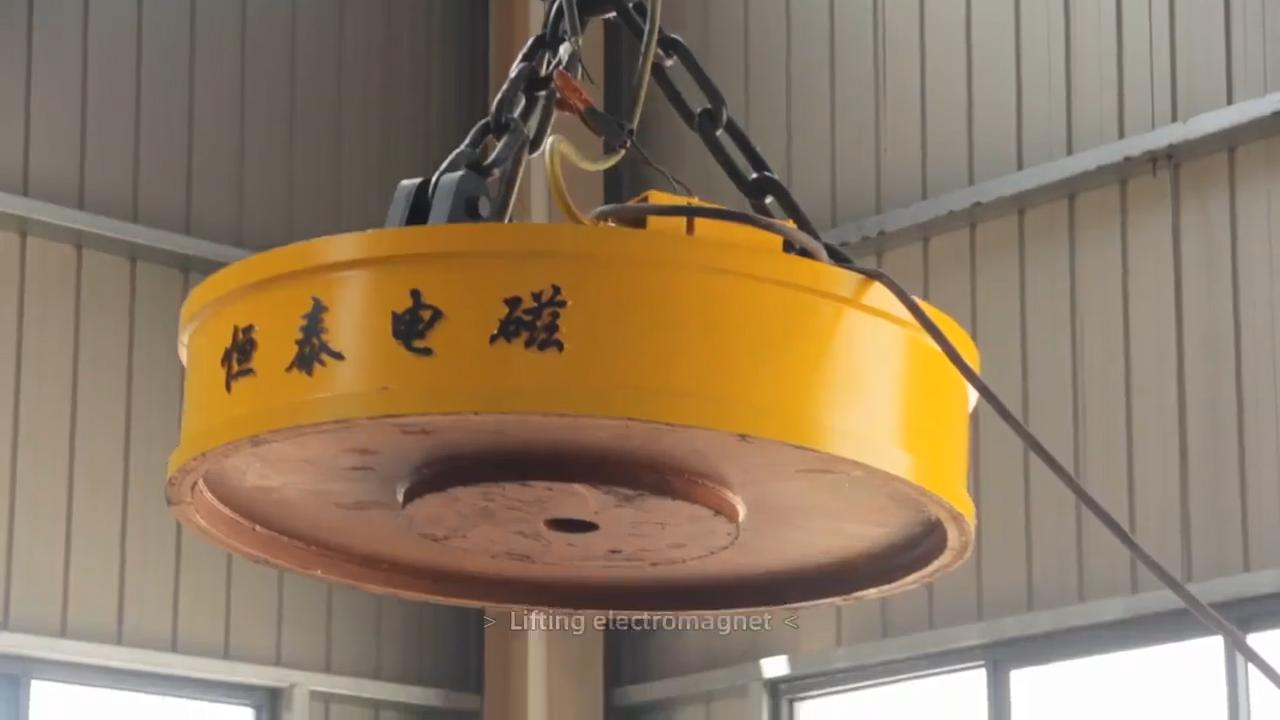 Ímã de levantamento circular para lidar com sucatas de aço