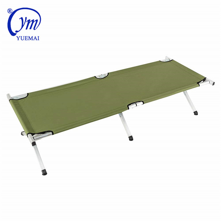 Portable Folding camping beds heavy duty aluminum folding cot military sleeping cot