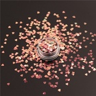 wholesale super beautiful hot sale color shifting nail art heart glitter