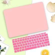 """Для Macbook Air Retina 11 12 13,3 """"матовый кристально чистый чехол для Macbook Air Pro 13 15 дюймов Сенсорная панель/Touch ID A1932 A2159 A1706(Китай)"""