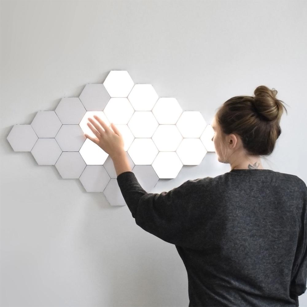 Tehoi App Controlled 16 Million Color Northern Color Hexagonal Led Light Modular Honeycomb Shape Best room setup for gaming//