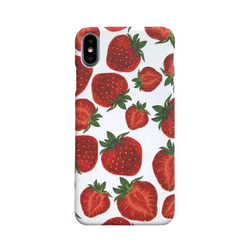 Waterproof antishock transparent TPU <strong>strawberry</strong> painting girly phone case for iPhone 6/7/8/X /xs/xs max/11 pro max