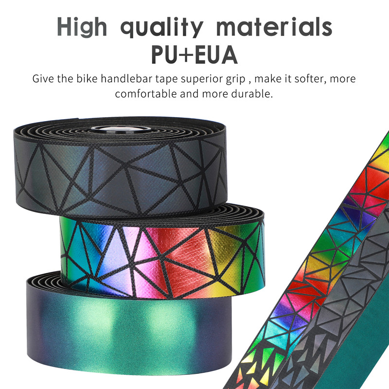 WEST BIKING Anti-slip high quality bicycle handlebar tape with bar end plugs professional colorful bicycle handlebar tape