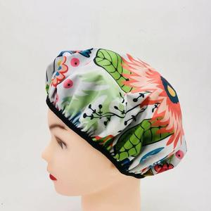High quality custom logo cheaper drawstring shower cap