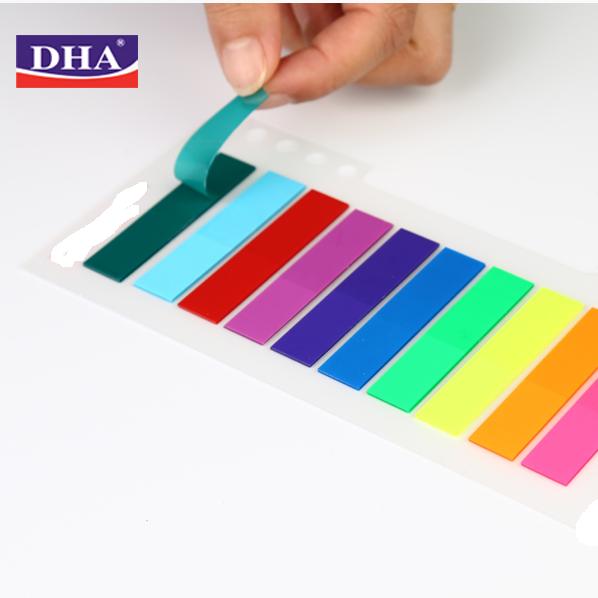 מעורב 10 צבעי ניאון דביק דגלי דף סמנים עצמי מקל נשלף מדד כרטיסיות