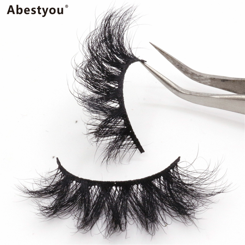 Abestyou 5D Mink Eyelashes Vendor 25Mm 3D Faux Mink Lashes Custom Mink Eyelash Packaging Box China Eyelashes