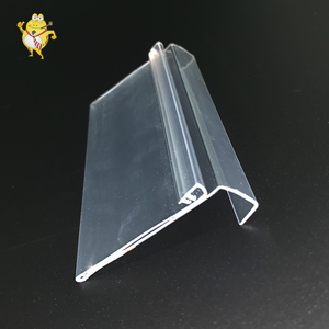 PVC adhesive stand for price label supermarket sign holder clip