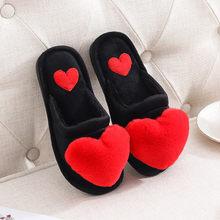 Женские сандалии с сердечками, зимние меховые шлепанцы, 35-41(Китай)