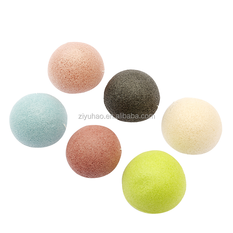 Wholesale 100% natural facial makeup konjac sponge cosmetic sponge puff