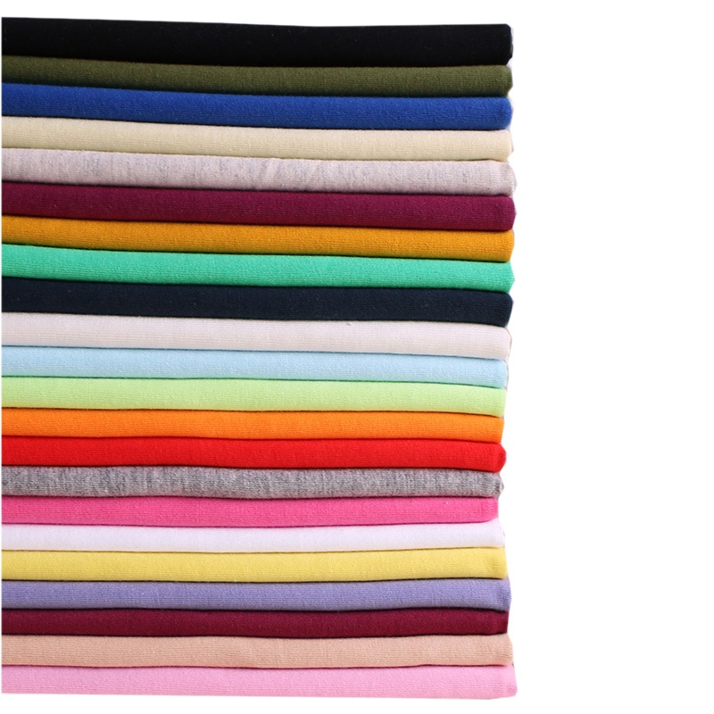 Plain Dyed 100% Cotton Knitted jersey fabric for t-shirt clothing fabric