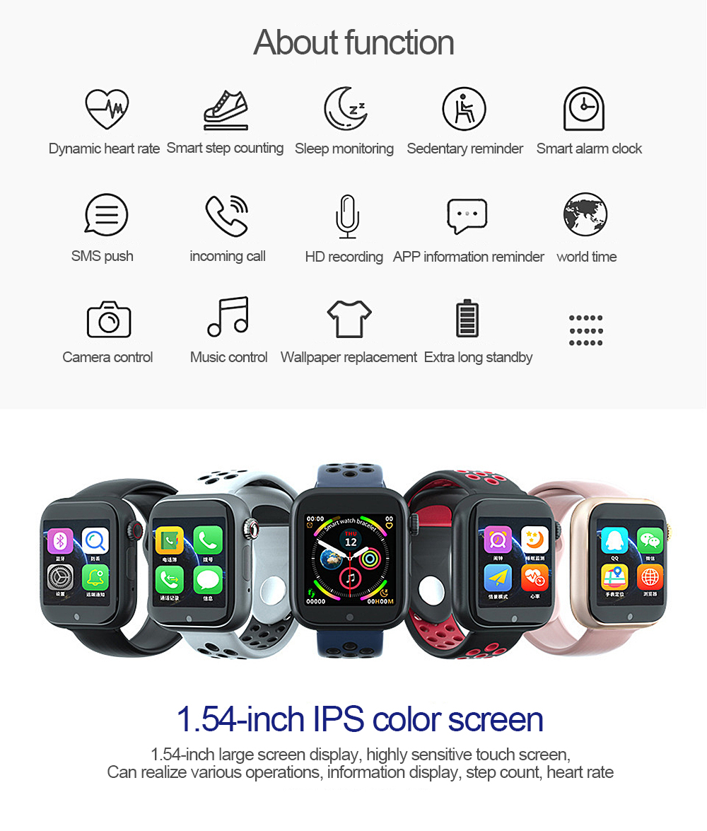 High-quality Z6S information reminder supports cartoon-speaking android smart watch smart watches