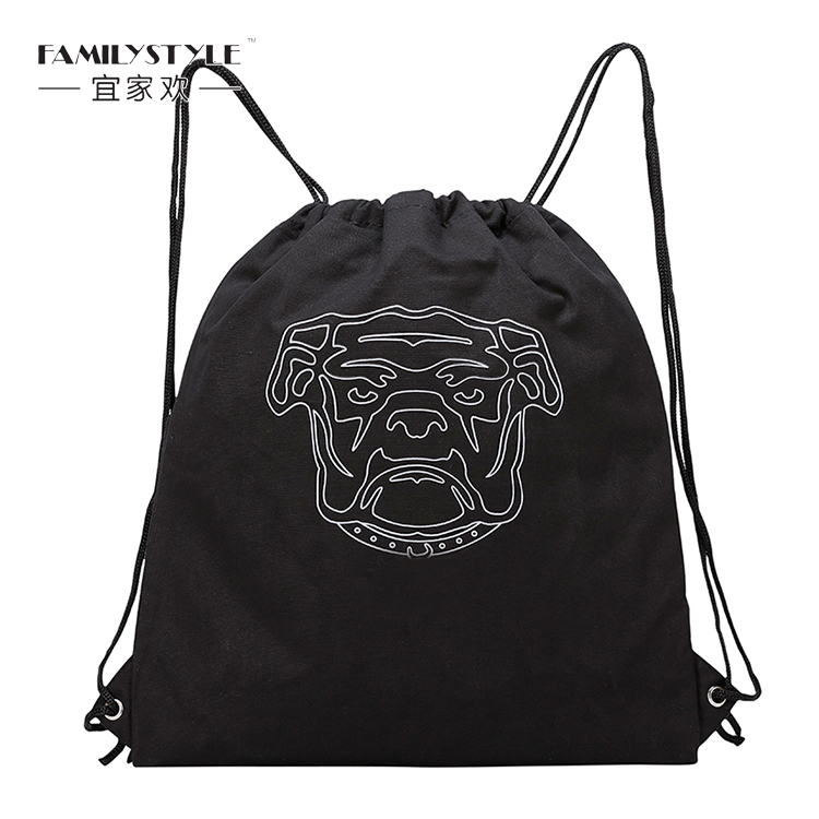 High Quality Popular Drawstring Recycled Custom Canvas Gift Bag