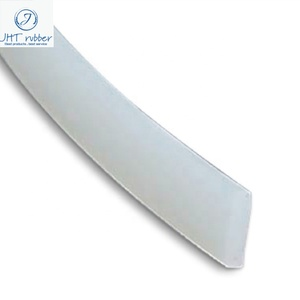 Silicone Sewn Rubber Strip 14x3mm Flat Silicone Extruded Strip For Seg Fabric Light Box