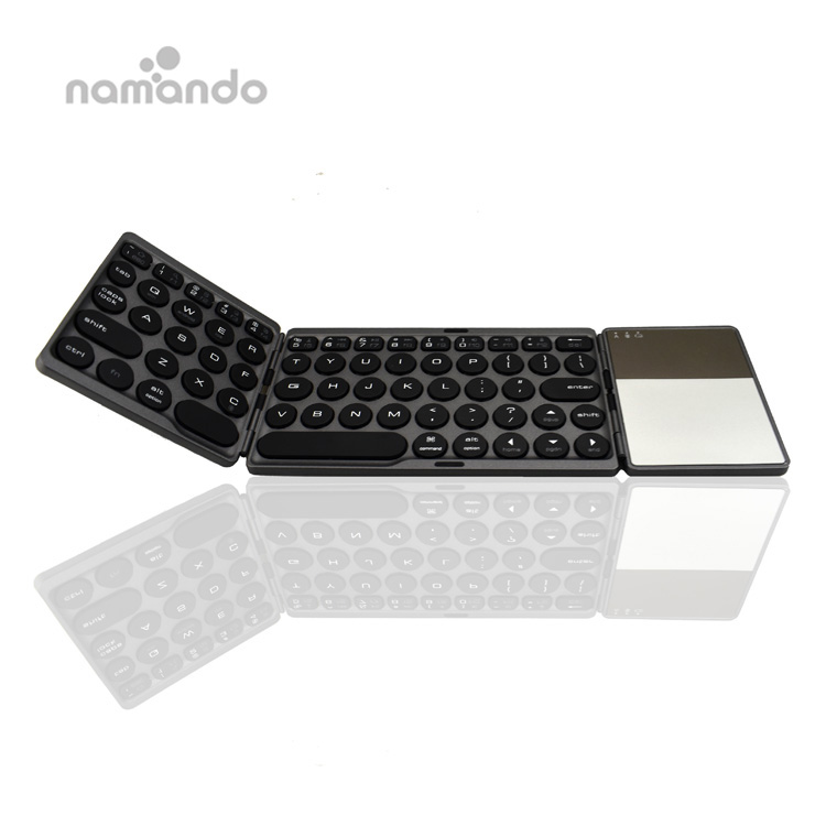 Bluetooth Drahtlose Faltende Tastatur mit Touchpad Faltbare BT Mini Tastatur für Telefon Tablet Laptop PC ipad iphone