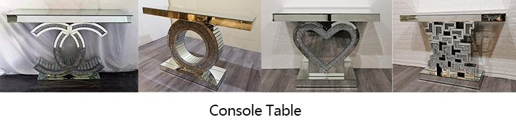Home Decorative Dressing Mirror Black Crystal Full Length Floor Mirror