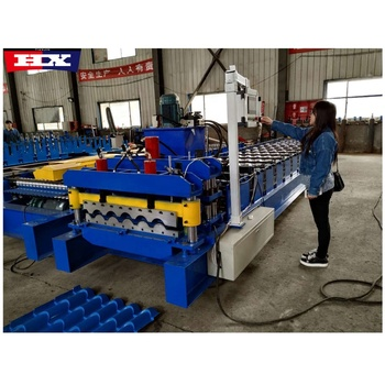 Steel Roofing sheet interlocking tile making roll forming machine prices