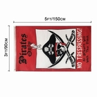 National Flag Digital Printing 3x5 Red Black large Pirate Flag For Sale
