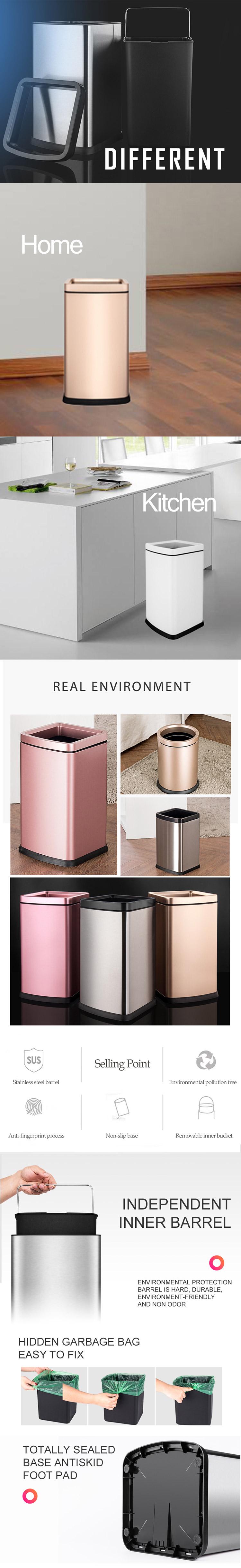 Yanmaz dokunmatik düşük fiyat ile çöp kutusu bio