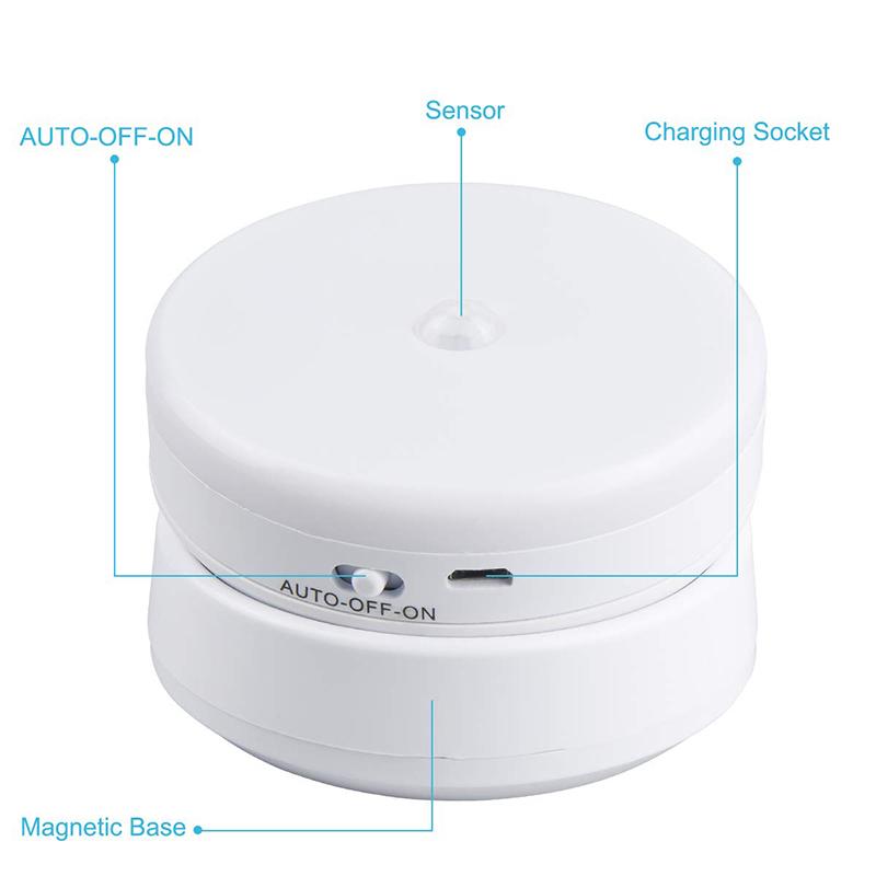 Alto brillo modular táctil luces batería inalámbrica PIR Noche del Sensor de movimiento para el dormitorio a casa la noche de la lámpara de luz