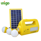 UNIGO 3W PV solar panel power system for home tube light tv and fan