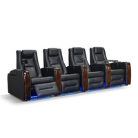 Luxury Leather General Use No Inflatable Elegant Recling Sofa Set