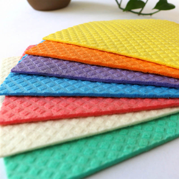 BSCI ISO9001 swedish dishcloth cellulose cotton dish sponge cloth