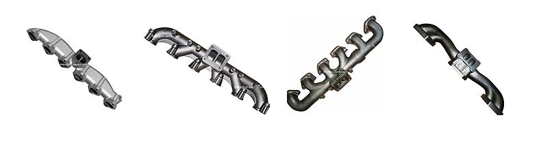 Paslanmaz çelik sınıflarda kullanılan araba egzoz manifoldu