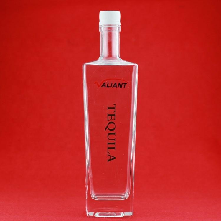 wholesale 750ml white square glass vodka bottle spirite bottles
