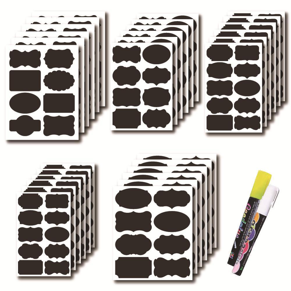 Waterproof Chalkboard Kitchen Spice Label Sticker Home Jars Bottles Tag Blackboard Labels Stickers