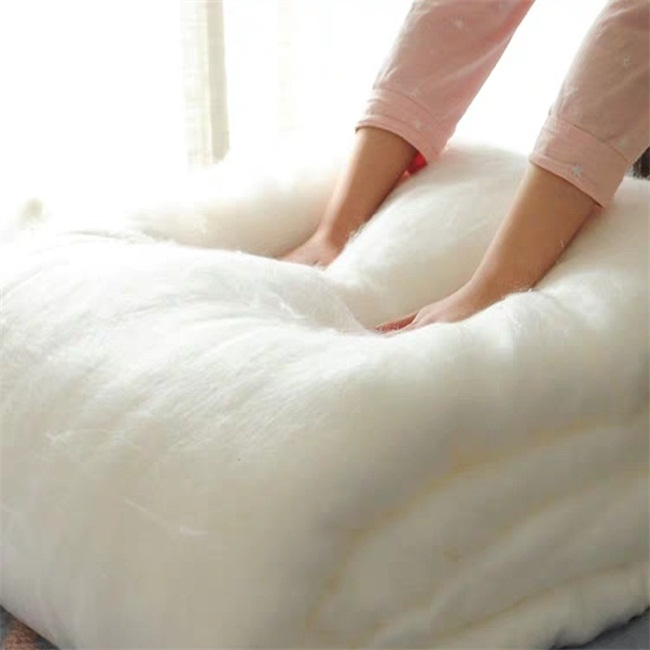 100% Mulberry Silk Comforter Filling Material for quilt pillow