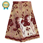 Bestway New Design Embroidered Wholesale French Sequins Lace Fabrics With Stones