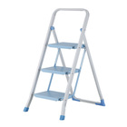 Household adjustable steel folding mini step stair ladder