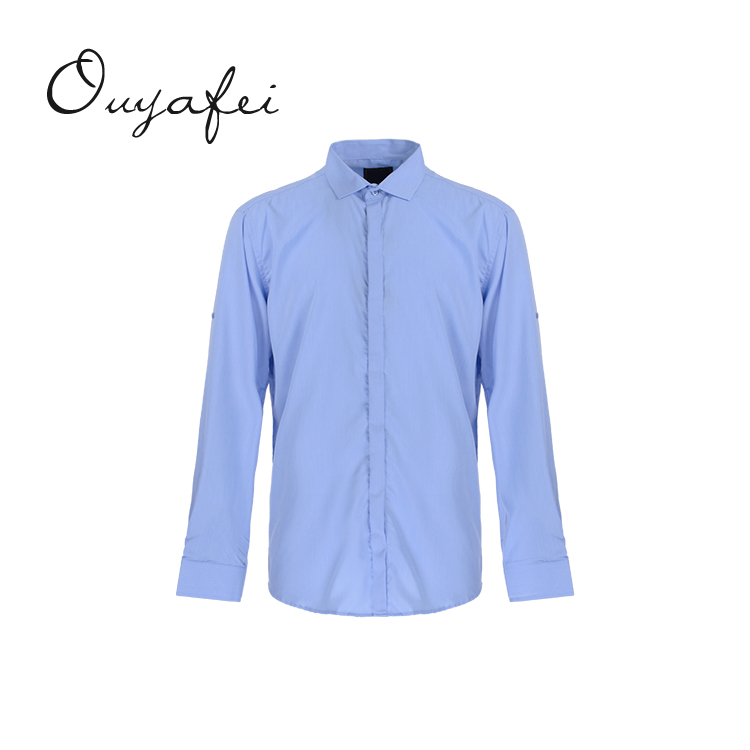 Ready goods elegant spring solid polyester eco friendly men shirts cotton