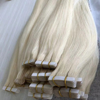 Wholesale tape hair extensions human hair,remy natural clip in human hair extensions,tape hair extension packaging