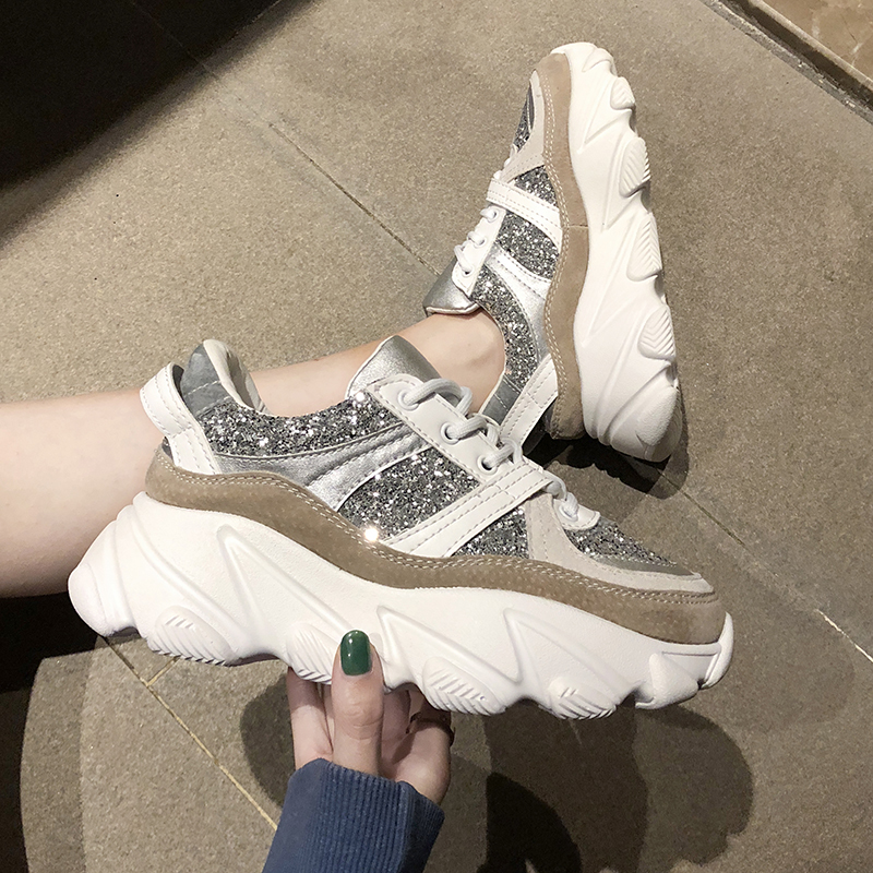 Womens chunky Sneakers Spring Autumn Mesh ladies Running Shoes Women sports Female Shoes Flats Platform Soft zapatillas