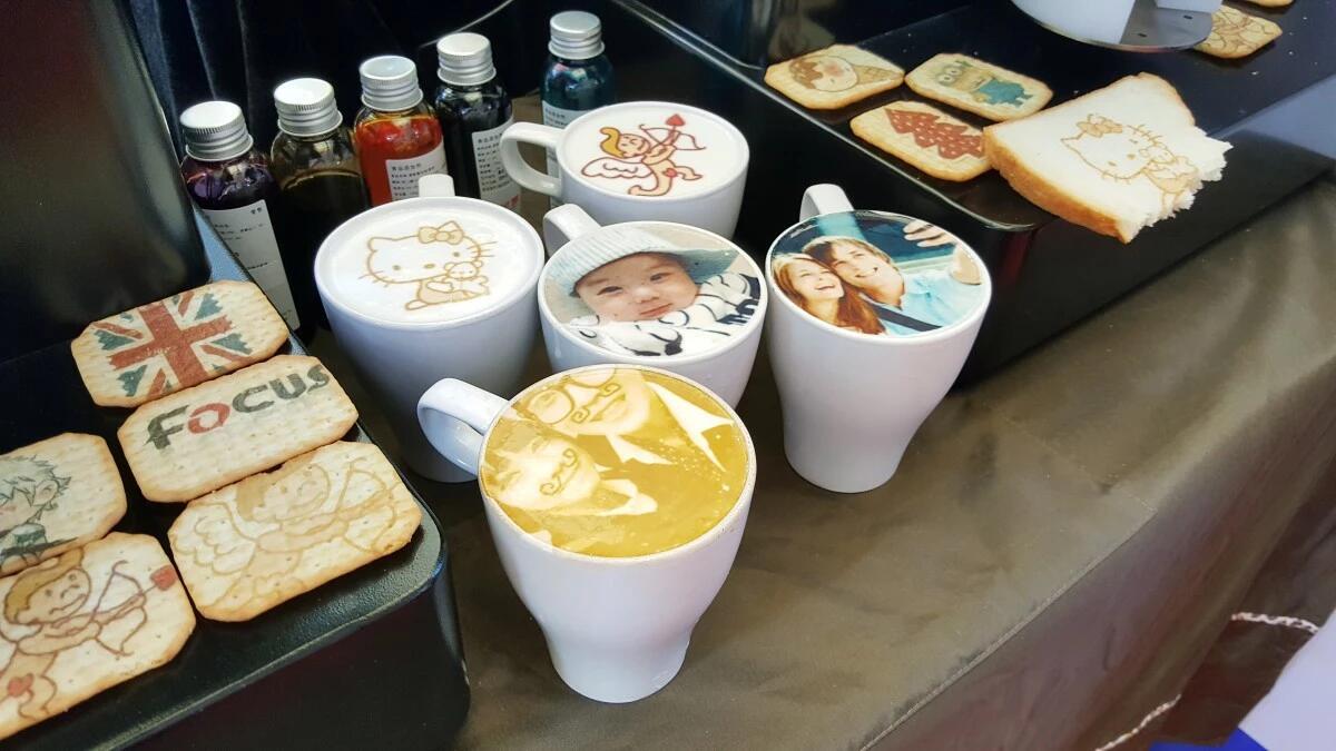 chocolate 3d printer coffee printer latte art edible cake printer