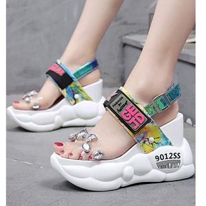 Wholesale fashion women sandals light weight high platform ladies sandals women