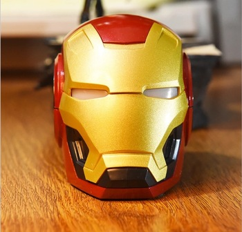 2019 innovation Iron man speaker Fashion Stereo Sound portable Bluetooth Speaker With Bass Sound