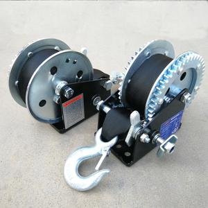 2000 lbs high quality portable small mini wire rope cable puller hand manual winch boat trailer winch