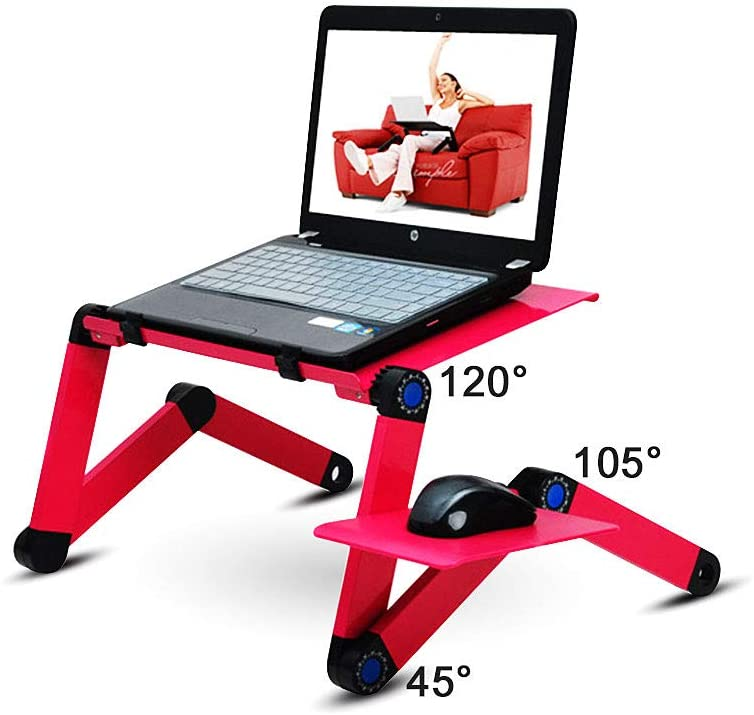 WIDENY Home Portable Aluminium Desktop Sofa Bed Adjustable Multifunctional <strong>Folding</strong> Computer <strong>Laptop</strong> Desk <strong>Table</strong> for Home Office