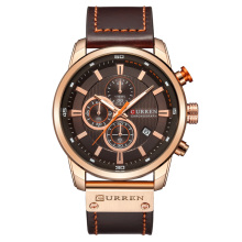 CURREN-8291 China Directe Fabriek Lederen <span class=keywords><strong>Horloge</strong></span> CURREN Sport Horloges
