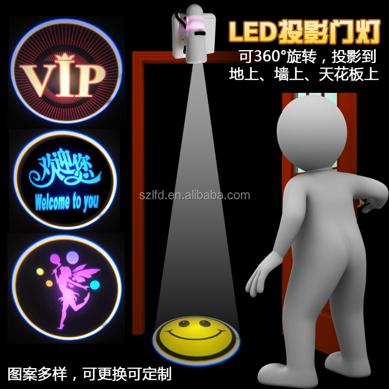 Laser <strong>Projector</strong> w/LED Gogo logo Rooms Home Theatre Night Light <strong>Projector</strong> Spotlight welcome Lamp