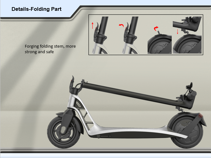 Electric Foldable Scooter with US and EU warehouse stock