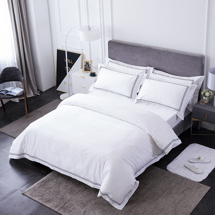 OEM wholesale luxury hotel new bed cover linen love design 100% cotton material fitted bedding set hotel <strong>sheet</strong> for dubai